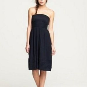 J Crew | Black Silk Chiffon Juliet Dress 8